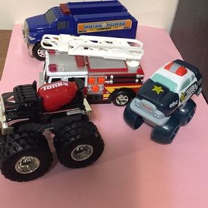 Toy vehicles set of four as shown in pics